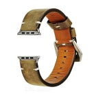 Italian Leather Watchband w/ Attachments + Screwdriver for APPLE WATCH 38mm - Yellowish Brown