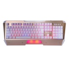 AULA NIMBLE EDGE Light-Emitting Backlit USB Wired 104-Key  Switch Mechanical Gaming Keyboard - Gold