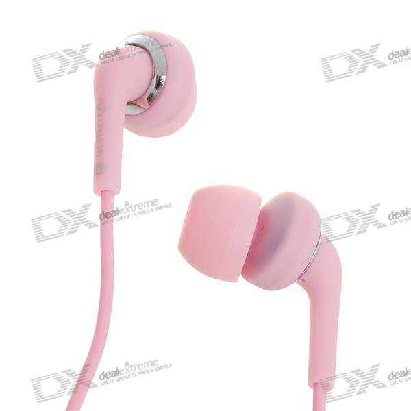 Stylish Noise Isolation In-Ear Stereo Earphone - Pink (3.5mm Jack/1.4M-Cable)