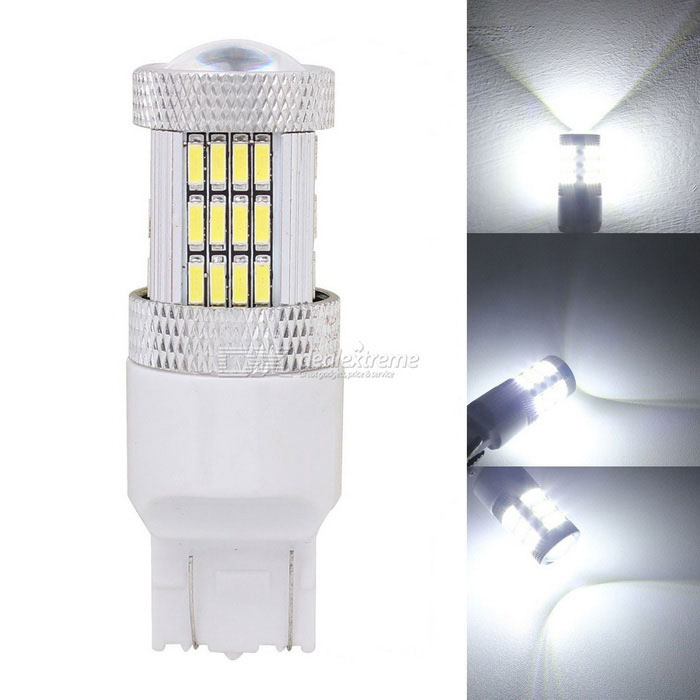 MZ T20 W21 / 5W 7443 10W Auto LED brzda / Driving Light White 54-SMD