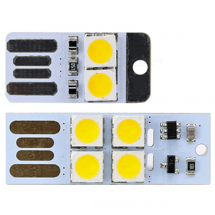 touch control warm wit USB LED + mini witte USB LED nachtlampje