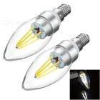JRLED E14 4W 4-COB Sharp Steep Light Cold White 6450K 400lm (2PCS)