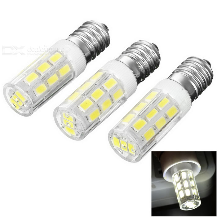 JRLED E14 5W resaltan el bulbo blanco frío 6450K 400lm 27-SMD (3PCS)