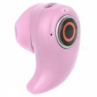 Cwxuan Hidden Bluetooth V4.0 In-Ear Earpiece Headset w/ Mic - Pink