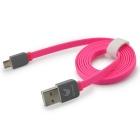 OLDSHARK Flat Micro USB 2.0 Data Charging Cable w/ Rubber Shell for Android Devices - Pink (1m)