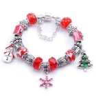 National Wind Retro Christmas Beads Bracelet - Multicolored (20cm)