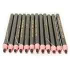 Waterproof Peelable Eyebrow Pencil - Black (12PCS)
