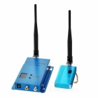 1.5GHz 1.5W 1500mW A/V Wireless Transmitter + Receiver Set for Camera / TV / VCD / DVD - Blue