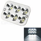 18W 1100lm White Light 6-LED + Colorful 4-LED Headlamp for Motorcycle