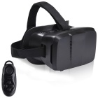 "VR 3D BOX Virtual Reality Glasses for 4.7""~6.0"" Phones + Smart Bluetooth Wireless Mouse - Black"