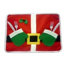 Christmas Double-Layer Table Mat Placemat - Red +Green