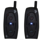 2*Bluetooth Intercom for Bike Hiking and Adventure for Phone - Black