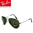 Genuine Ray-Ban RB3025 L0205 58M Series Pilot UV400 Protection Sunglasses - Dark Green + Grey