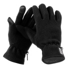NatureHike Anti-Slip Anti-pilling Wind-proof Warm Cycling Full-Finger Fleece Gloves - Black (Pair/L)