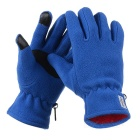 NatureHike Anti-Slip Anti-pilling Wind-proof Warm Cycling Full-Finger Fleece Gloves - Blue (Pair/S)