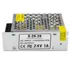 S-24-24 24V 1A Regulated Switching Power Supply - Silver (110~220V)