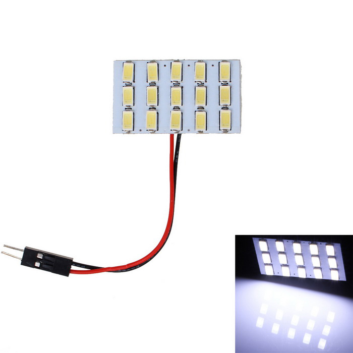 T10 BA9S Festoon 3.6W 300lm 15-LED Cold White Light Car Reading LampSignal Lights<br>Color BINCold WhiteModelN/AQuantity1 DX.PCM.Model.AttributeModel.UnitMaterialPCBForm ColorWhite + Yellow + Multi-ColoredEmitter TypeOthers,5730 SMD LEDChip BrandOthersChip Type5730Total EmittersOthers,15Power3WColor Temperature8000 DX.PCM.Model.AttributeModel.UnitTheoretical Lumens300 DX.PCM.Model.AttributeModel.UnitActual Lumens250 DX.PCM.Model.AttributeModel.UnitRate Voltage12VWaterproof FunctionNoConnector TypeT10,G4,Others,FestoonApplicationRoof light,Reading lampPacking List1 x 15-LED board1 x T10 connector1 x BA9S connector1 x Spring connector<br>
