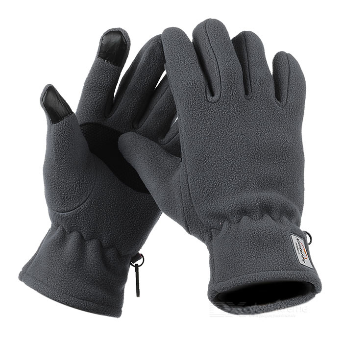 NatureHike Wind-proof Warm Full-Finger Fleece Gloves - Grey (Pair/M)Gloves<br>Form ColorGrey + Black + Multi-ColoredSizeMQuantity1 DX.PCM.Model.AttributeModel.UnitMaterial144F polar fleece + PU + conductive fiberTypeFull-Finger GlovesSuitable forAdultsGenderUnisexPalm Girth21 DX.PCM.Model.AttributeModel.UnitGlove Length26 DX.PCM.Model.AttributeModel.UnitBest UseCycling,Mountain Cycling,Recreational Cycling,Road Cycling,Triathlon,Bike commuting &amp; touringPacking List1 x Pair of gloves<br>