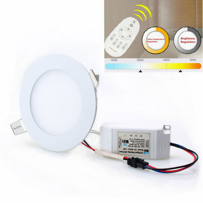 12W regulable LED bombilla blanco caliente + blanco 900lm 24-SMD 5630 w / remote