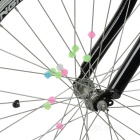 Glow-in-the-Dark ABS Bike Wheel Spoke Beads Decoration - Multi-Color