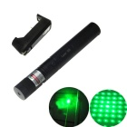 5mW Green Laser Pointer Pointer + US Plug Battery Charger - Black