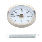 0-120°Bimetal Stainless Steel Surface Pipe Thermometer Clip-on Temperature Gauge with Spring
