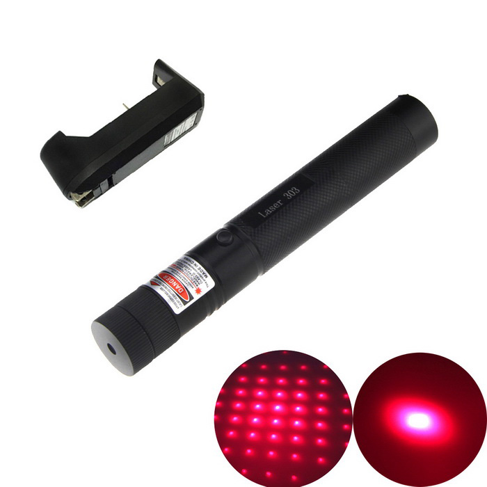303 Duralumin 5mW 650nm Starry Red Laser Pointer Pen