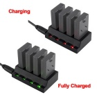 4-USB Port 3.7V Battery Adapter Charger for Parrot Aircraft - Black