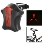 8-Mode 5-LED Bike Warning Light Taillight Red Light w/ Clip - Black + Red (2 x AAA)