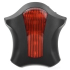 8-Mode 5-LED Bike Safety Taillight Red Light w/ Clip - Black + Red