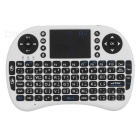 Rii RT-MWK08 Mini 2.4G Wireless 92-Key Keyboard w/ Touchpad - White (Arabic)