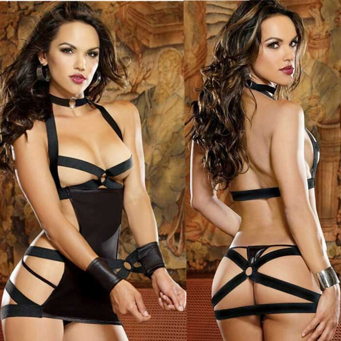 Ms. Chest A Three-Piece Suit Sexy Temptations Lingerie - Black