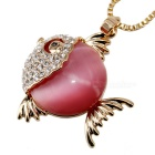 Unique Tropical Fish Style Gold Plating Necklace - Golden + Deep Pink