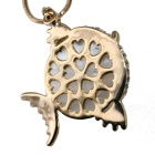 18K Gold Plating Crystal Tropical Fish Shape Necklace - Golden + White