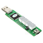 USB 4-Digit Motherboard Test Diagnostic Card for PC / Laptop - Green