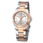 MEGIR Women's Waterproof Steel Band Watch - Rose Golden + Silver