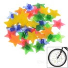 Glow-in-the-scuro ABS moto ruota a stella perline decorazione - multicolore