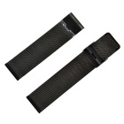 Mesh Style Stainless Steel Watch Band & Connectors & Screw Driver Set for 42mm Apple Watch - Black