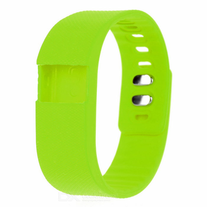 Replacement Soft Silicone Wrist Band for TW64 - Fluorescent Green