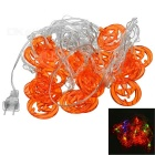 Pumpkin Style 2W 25lm 20-LED RGB String Light Lamp (AC 220V / 4m)