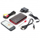 "Stylish 1080P 2.5"" SATA I/II HDD RM/RMVB/AVI Media Player with HDMI/AV/USB/OTG"