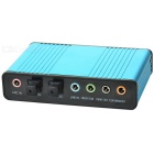 USB 5.1 External Optical Audio Sound Card Adapter w/ Aluminum Alloy Shell - Blue