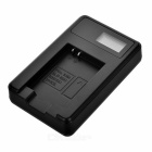 "Camera Battery Charger w/ 0.9"" LCD for Samsung SLB-10A/10B/11A - Black"