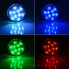10-LED Colorful Remote Control Decoration Diving Lamp (4PCS)