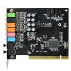 PCI 5.1 Optical Sound Card for Windows 7 / 8 - Black