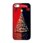 Christmas Tree Pattern Protective TPU Back Case for IPHONE 5 / 5S - Red + Multi-Color