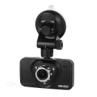 "2.7"" CMOS Car DVR Camcorder w/ Dual Cameras & IR Night Vision - Black"