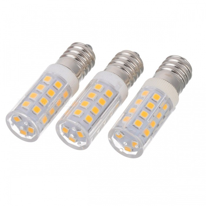 JRLED E14 5W Highlight Bulb Warm White 3200K 400lm 27-5730 SMD (3PCS)E14<br>Form  ColorWhite + Yellow + Multi-ColoredColor BINWarm WhiteMaterialCeramic + PC + iron feetQuantity3 DX.PCM.Model.AttributeModel.UnitPower5WRated VoltageAC 220 DX.PCM.Model.AttributeModel.UnitConnector TypeE14Chip BrandHugaChip Type5730 SMDEmitter TypeOthers,5730 SMDTotal Emitters27Theoretical Lumens400 DX.PCM.Model.AttributeModel.UnitActual Lumens200~400 DX.PCM.Model.AttributeModel.UnitColor Temperature12000K,Others,3000~3200KDimmableNoBeam Angle360 DX.PCM.Model.AttributeModel.UnitPacking List3 x Lamps<br>