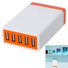 DC 5V 5.2A 26W USB 5-Port Power Adapter Universal Charger (AC100-240V / EU Plug)