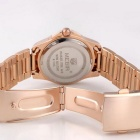 MEGIR Women's Waterproof Steel Band Quartz Watch - Rose Golden + White